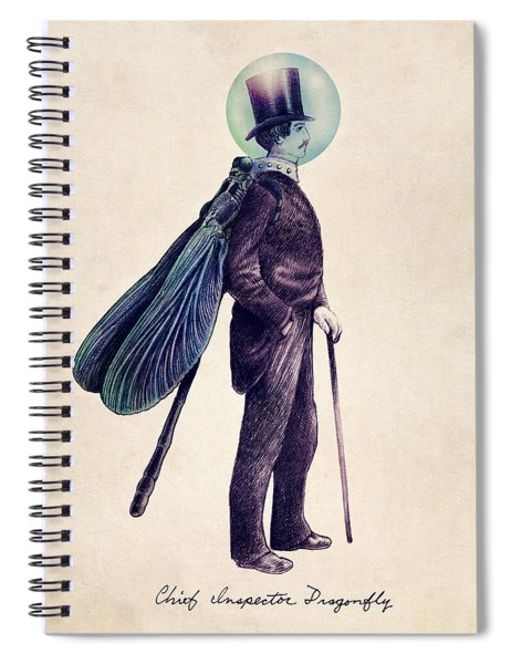 Inspector Dragonfly Spiral Notebook by Eric Fan