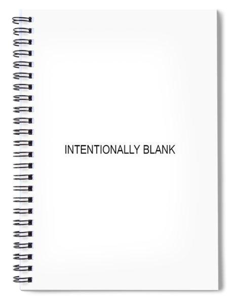 Intentionally Blank Spiral Notebook