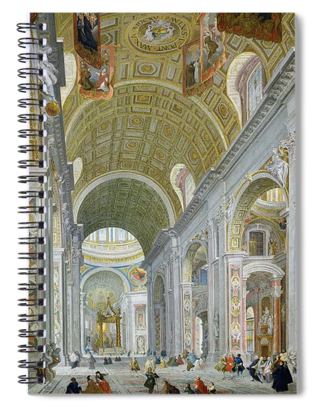 Interior Of St Peters In Rome Spiral Notebook