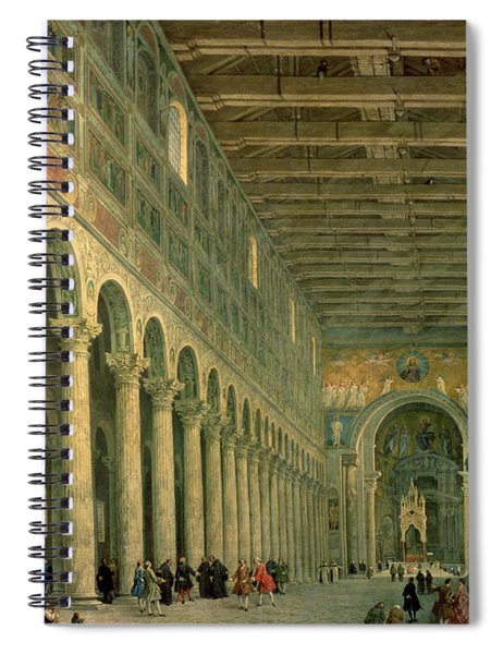 Interior Of The Church Of San Paolo Fuori Le Mura Spiral Notebook