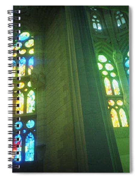 Interiors Of A Church Designed Spiral Notebook