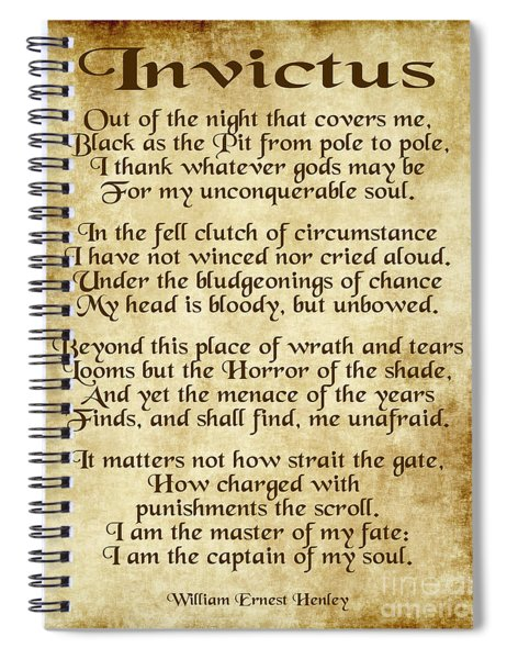 Invictus - Old Parchment Design Spiral Notebook