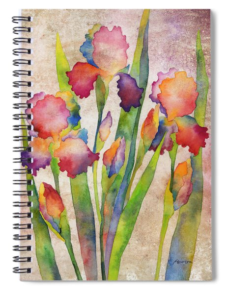 Iris Elegance On Pink Spiral Notebook