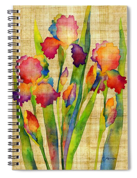 Iris Elegance On Yellow Spiral Notebook