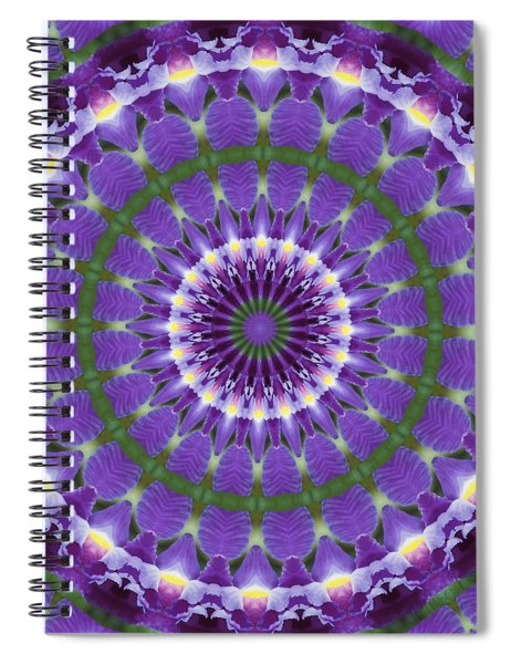 Iris Kaleidoscope  Spiral Notebook
