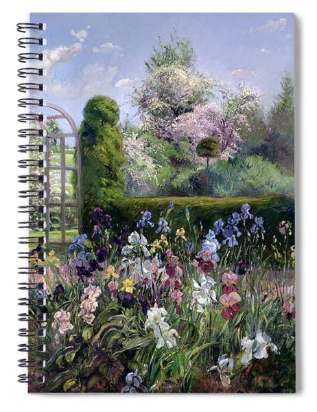Irises In The Formal Gardens, 1993 Spiral Notebook