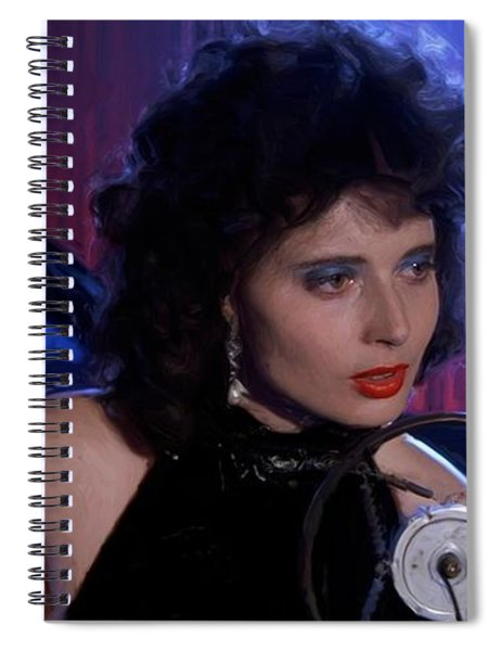 Isabella Rossellini In The Film Blue Velvet Spiral Notebook