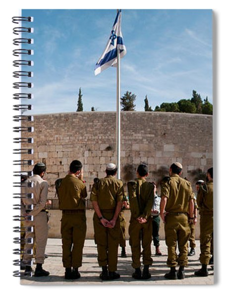 Israeli Soldiers Being Instructed Spiral Notebook