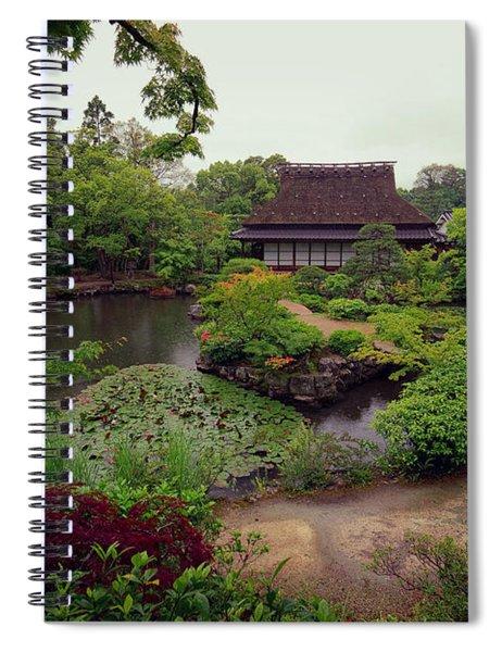 Isuien Garden Tea House - Nara Japan Spiral Notebook