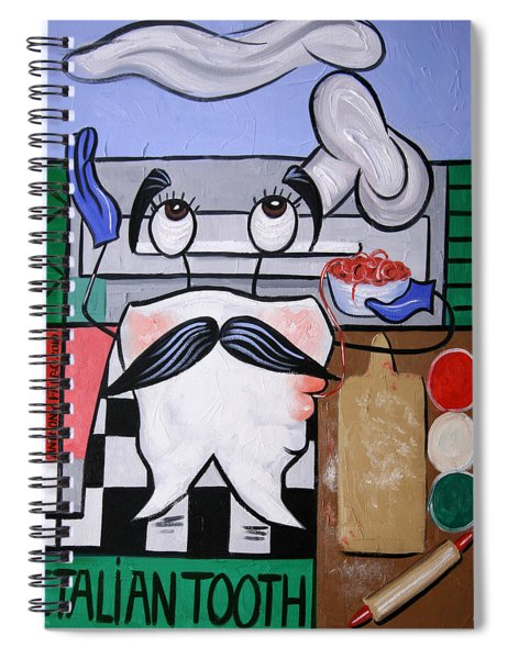 Italian Tooth Spiral Notebook by Anthony Falbo