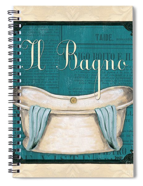 Italianate Bath Spiral Notebook