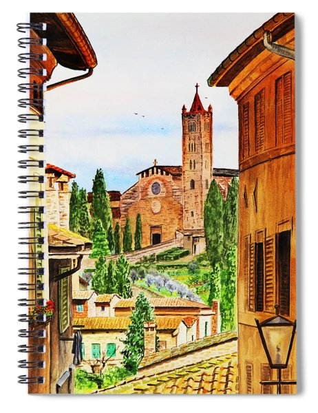 Italy Siena Spiral Notebook