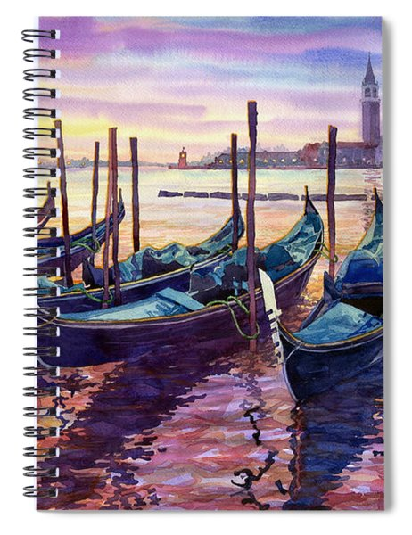 Italy Venice Early Mornings Spiral Notebook