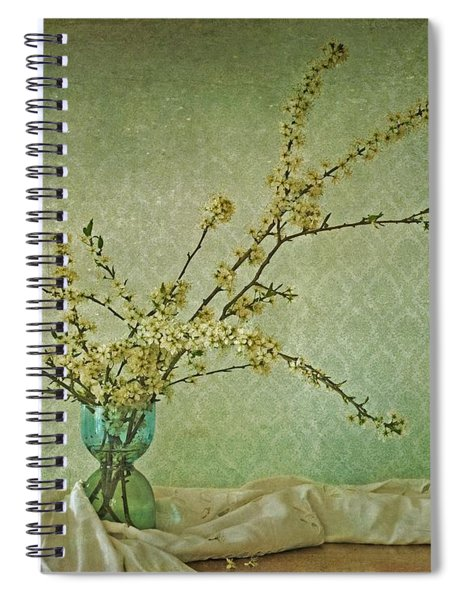 Ivory And Turquoise Spiral Notebook