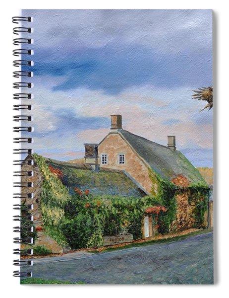 Ivy Cottage Beeley, Chatsworth, Derbyshire, 2009 Oil On Canvas Spiral Notebook