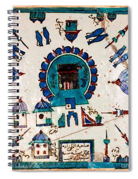Iznik Kaaba Spiral Notebook