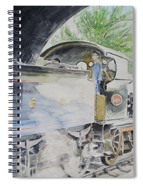 J15 564 Leaving Sheringham Spiral Notebook