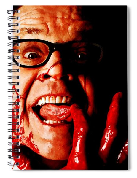Jack Nicholson Painted From Photo Of Matthew Rolston Spiral Notebook