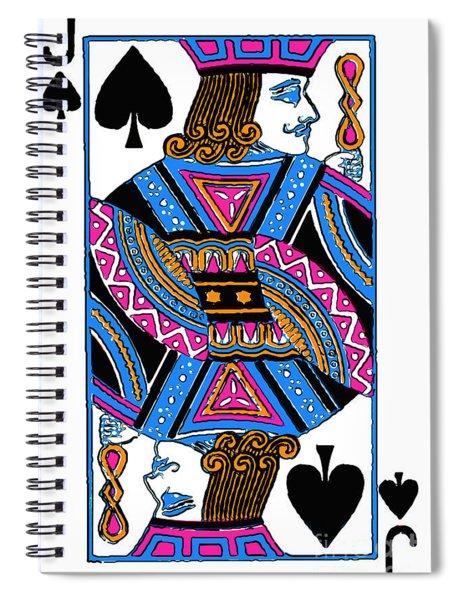 Jack Of Spades - V3 Spiral Notebook