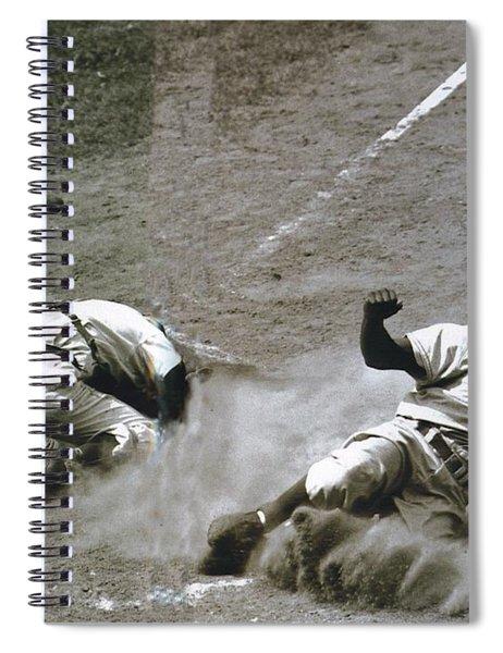 Jackie Robinson Sliding Home Spiral Notebook