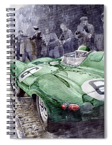 Jaguar D-type  1955 Le Mans  Spiral Notebook