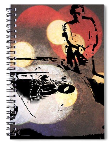 James Dean And Little Bastard Spiral Notebook