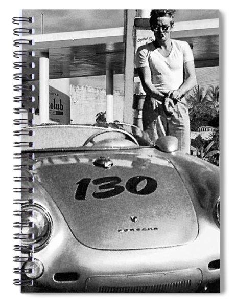 Last Picture Taken Of James Dean Spiral Notebook