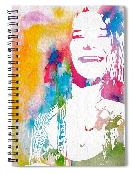 Janis Joplin Watercolor Spiral Notebook