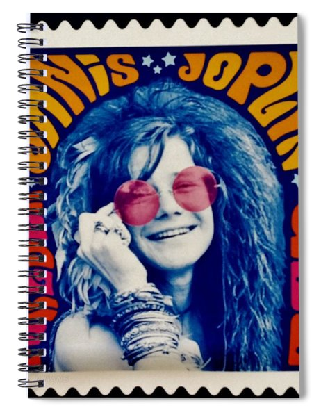 Janis Stamp In A Groovy Vibe Spiral Notebook