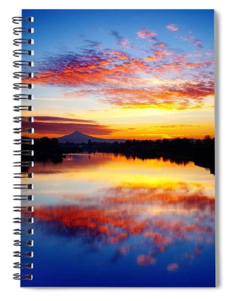 Jantzen Beach Sunrise Spiral Notebook