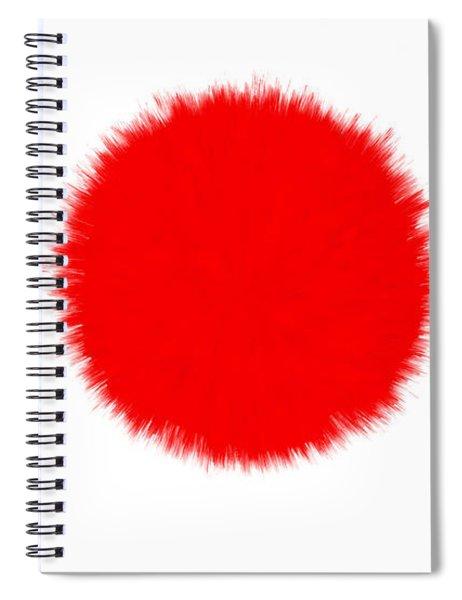 Japan Flag Spiral Notebook