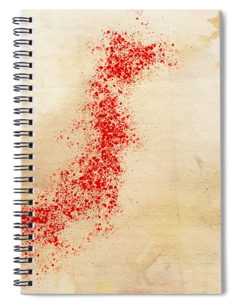 Japan Watercolor Map Spiral Notebook