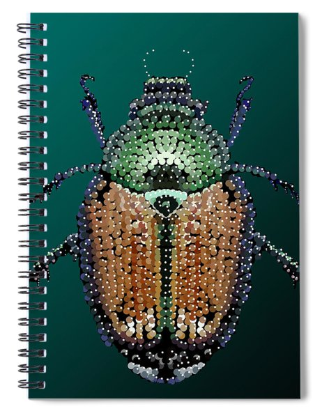 Japanese Beetle Bedazzled II Spiral Notebook