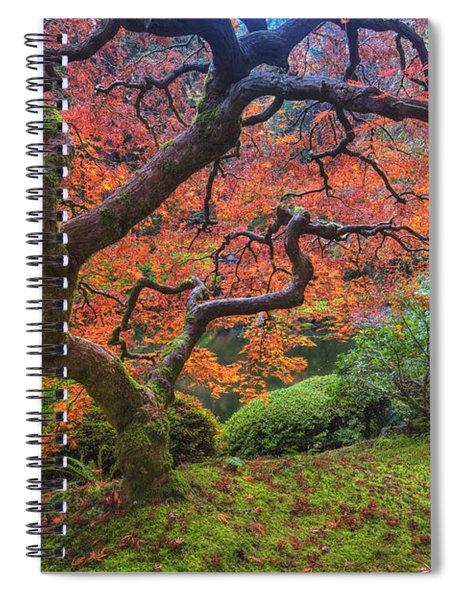 Japanese Maple Tree Spiral Notebook