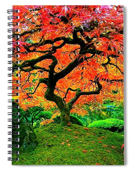Japanese Red Maple Spiral Notebook