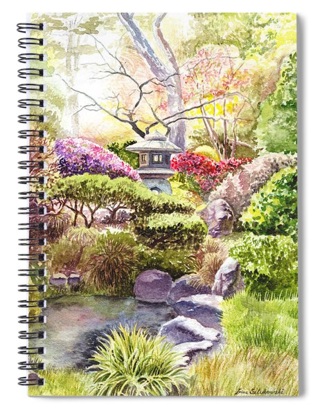 San Francisco Golden Gate Park Japanese Tea Garden  Spiral Notebook