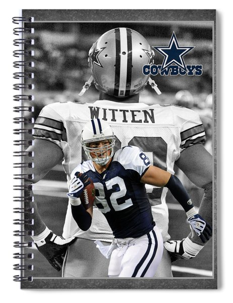 Jason Witten Cowboys Spiral Notebook