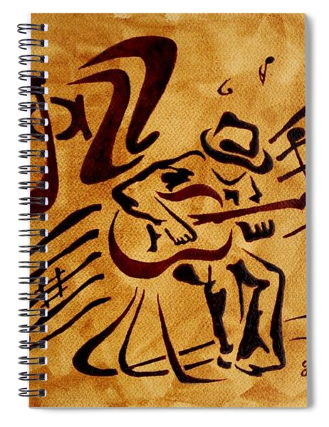 Jazz Abstract Coffee Painting Spiral Notebook