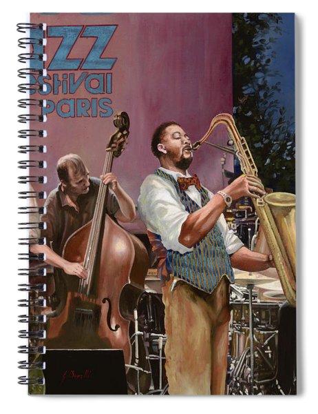 jazz festival in Paris Spiral Notebook