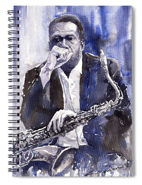 Jazz Saxophonist John Coltrane Blue Spiral Notebook