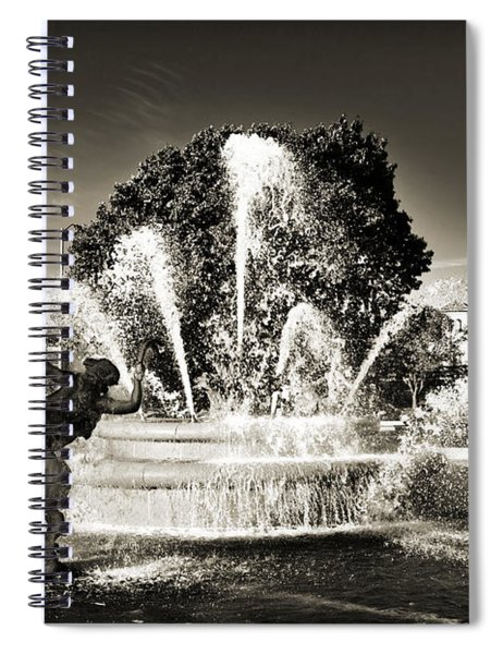 Jc Nichols Memorial Fountain Bw 1 Spiral Notebook