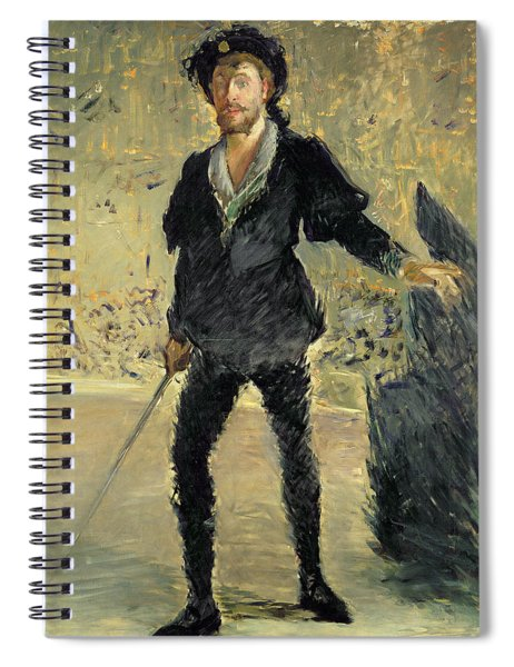 Jean Baptiste Faure In The Opera Hamlet By Ambroise Thomas Spiral Notebook