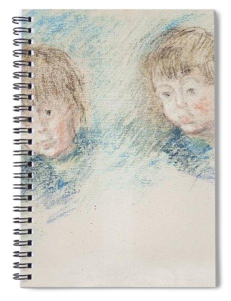 Jean-pierre Hoschede And Michel Monet Pastel Spiral Notebook