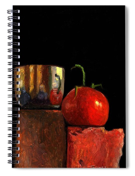 Jefferson Cup With Tomato And Sedona Bricks Spiral Notebook