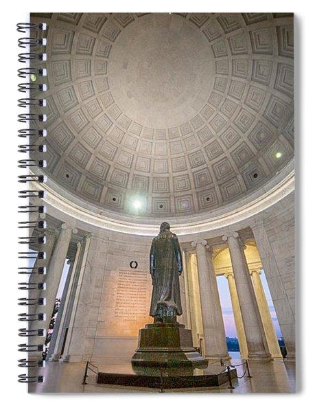 Jefferson's Back Spiral Notebook