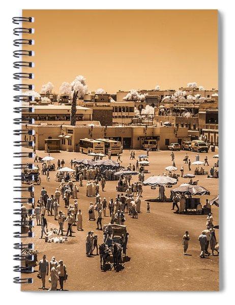Jemaa El Fna Market In Marrakech At Noon Spiral Notebook
