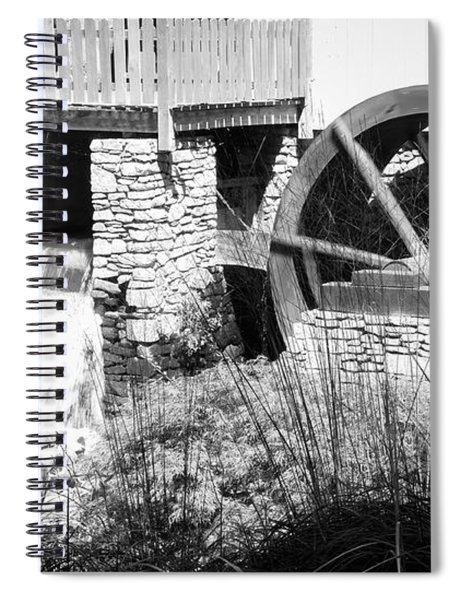Jenney Mill In Black And White Spiral Notebook