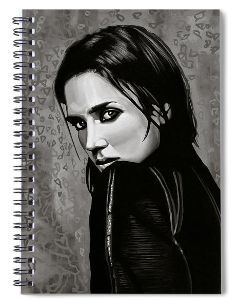 Jennifer Connelly Painting Spiral Notebook