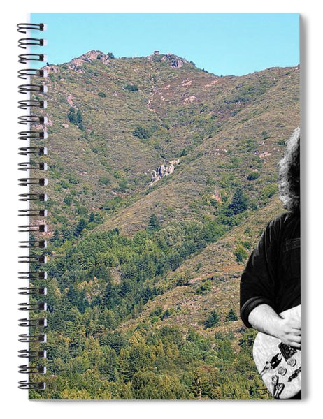 Jerry Garcia And Mount Tamalpais Spiral Notebook