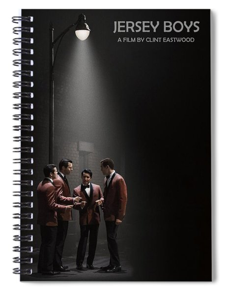 Spiral Notebook featuring the photograph Jersey Boys By Clint Eastwood by Movie Poster Prints